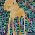 Yellow Lab Pup by Donna Howard