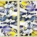 Yellow Lavender White Nuances  Abstract Alcohol Inks by Danielle  Parent