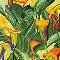 Yellow Lilies by Annette M Stevenson