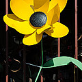Yellow Metal Garden Flower by Tikvah's Hope