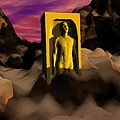 Yellow Monolith-large by Peter Cochran