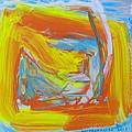 Yellow -orange  Window. by Agnieszka Praxmayer