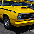 Yellow Plymouth Duster by Mark Spearman