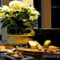 Yellow Poinsettia And Cheeses by Tanya  Searcy
