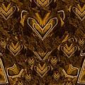 Yellow Pop Art Hearts by Pepita Selles