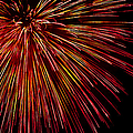 Yellow Red Firework Explosion by Weston Westmoreland