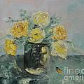 Yellow Roses by Maria Karalyos