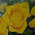 Yellow Roses by Subhadra Sarkar