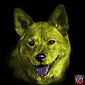 Yellow Shiba Inu Dog Art - 8555 - Bb by James Ahn