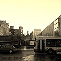 Yellow Skies Over A Glasgow Street by James Potts