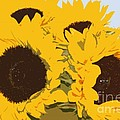 Yellow Sunflowers by Carol Lynch