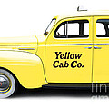 Yellow Taxi Cab by Edward Fielding