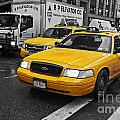 Yellow Taxi Color Pop by Steve Purnell