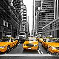 Yellow Taxis In New York City - Usa by Luciano Mortula