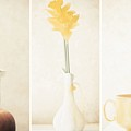 Yellow (triptych) by Delphine Devos