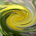 Yellow Whirlpool by Luther Fine Art