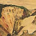 Yellowstone Canyon - Wyoming 1946 by Art By Tolpo Collection