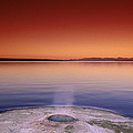 Yellowstone Lake And Geyser by Rich Franco