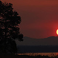 Yellowstone Lake Sunrise On Smoky Day by Bruce Gourley