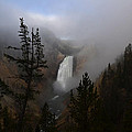 Yellowstone - Lower Falls At Sunrise by George Bostian