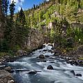 Yellowstone National Park Waterfall by Lane Erickson