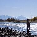 Yellowstone River Fly Fishing by Jeffrey Akerson
