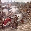 Yermaks Conquest Of Siberia by Vasily Ivanovich Surikov