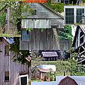 Yesterday Barns Collage by Susan Garren