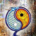 Yin And Yang Textured by Robert Ball