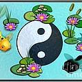 Yin Yang Koi Pond Scenery by John Wills