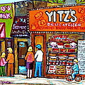 Yitzs Deli Toronto Restaurants Cafe Scenes Paintings Of Toronto Landmark City Scenes Carole Spandau  by Carole Spandau