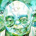 Yoda Watercolor Portrait by Fabrizio Cassetta