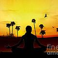 Yoga At Sunrise by Bedros Awak
