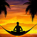 Yoga At Sunset by Bedros Awak