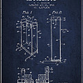 Yoga Exercising Apparatus Patent From 1968 - Navy Blue by Aged Pixel