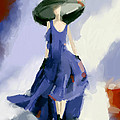 Yohji Yamamoto Fashion Illustration Art Print by Beverly Brown Prints