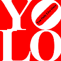 Yolo - You Only Live Once 20140125 White Red Black by Wingsdomain Art and Photography