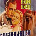 Yorkshire Terrier Art Canvas Print - Casablanca Movie Poster by Sandra Sij