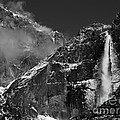 Yosemite Falls In Black And White by Bill Gallagher
