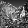 Yosemite Falls In Black And White II by Bill Gallagher