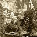 Yosemite Falls Sepia by Mini Arora