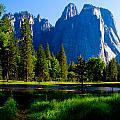 Yosemite Valley And Lake  by John McGraw