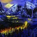 Yosemite Valley At Night by Bob and Nadine Johnston