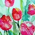 You Enlighten Me- Painting Of Tulips by Ashleigh Dyan Bayer