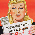 You Ve Got A Date With A Bond Poster Advertising Victory Bonds  by Canadian School