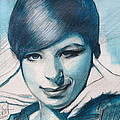 Young Barbra Streisand by Gregory DeGroat