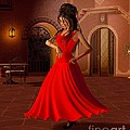 Young Flamenco Dancer by Fairy Fantasies