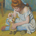 Young Girl Playing With A Doll by Federico Zandomeneghi