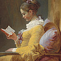 Young Girl Reading by Jean-Honore Fragonard
