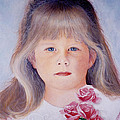 Young Girl With Roses by Van Bunch